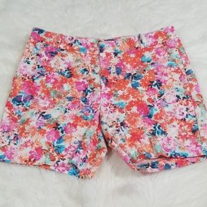 "J.Crew floral pattern 5.1/2"" shorts. Size 6"